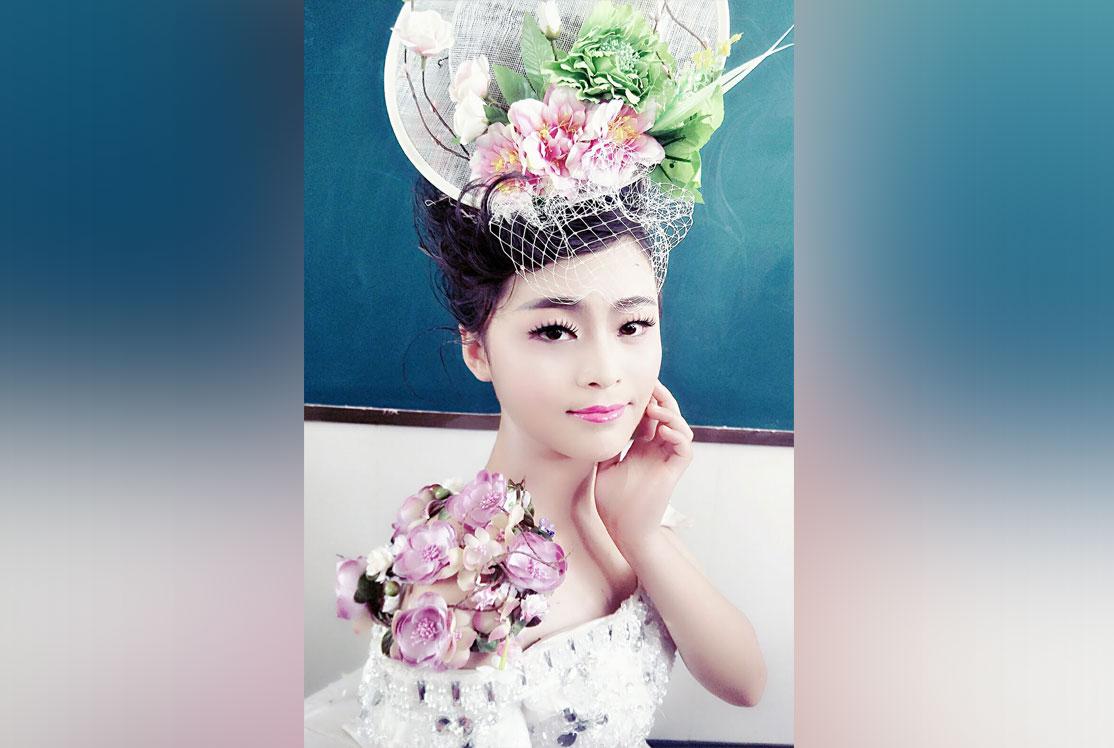 山东蓝翔美容美发学院美发造型实习厅展示